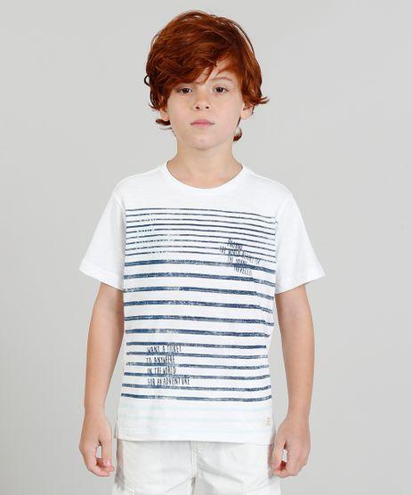 Camiseta-Infantil-com-Estampa-Listrada-e-Manga-Curta-Branca-9328746-Branco_1
