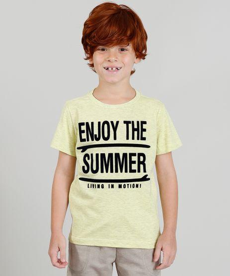 Camiseta-Infantil-com-Estampa-Flocada-Manga-Curta-Amarela-9373063-Amarelo_1