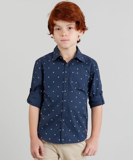 Camisa-Infantil-Estampada--Caranguejo--Manga-Longa-Gola-Esporte-Azul-Marinho-9187109-Azul_Marinho_1