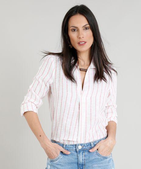 Camisa-Feminina-Listrada-Manga-Longa-Decote-V-Off-White-9255571-Off_White_1