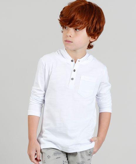 Camiseta-Infantil-com-Capuz-e-Botoes-Manga-Longa-Branca-9328761-Branco_1
