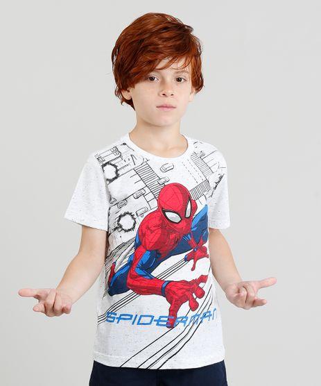 Camiseta-Infantil-Homem-Aranha-Botone-Manga-Curta-Gola-Careca-Off-White-9301682-Off_White_1