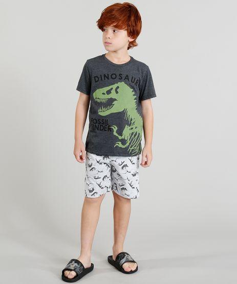 Pijama-Infantil--Dinossauro--Manga-Curta-Cinza-Mescla-Escuro-9341547-Cinza_Mescla_Escuro_1