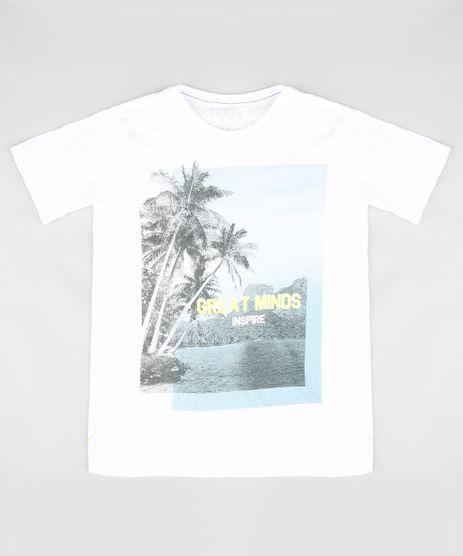Camiseta-Infantil-com-Estampa-de-Paisagem-Manga-Curta-Gola-Careca-Branca-9328774-Branco_1
