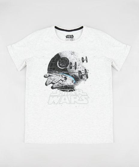 Camiseta-Infantil-Millenium-Falcon-Star-Wars-Manga-Curta-Gola-Careca-Cinza-Mescla-Claro-9279893-Cinza_Mescla_Claro_1
