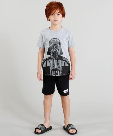 Pijama-Infantil-Darth-Vader-Star-Wars-Manga-Curta-Cinza-Mescla-9224164-Cinza_Mescla_1