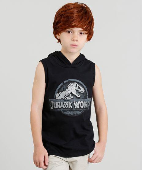 Regata-Infantil-Jurassic-World-com-Capuz-Preta-9397965-Preto_1