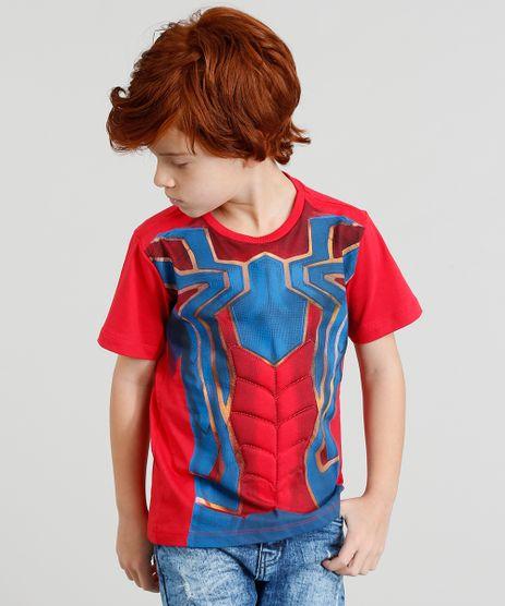 Camiseta-Infantil-Homem-Aranha-com-Mascara-Manga-Curta-Gola-Careca-Vermelha-9402178-Vermelho_1