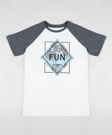 1d6de0dcc59 Menor preço em Camiseta Infantil Raglan com Estampa