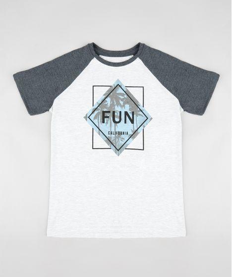 Camiseta Infantil Raglan com Estampa