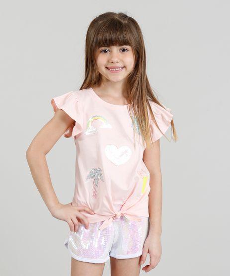Blusa-Infantil-com-Paetes-e-Babado-Manga-Curta-Decote-Redondo-Rose-9311836-Rose_1