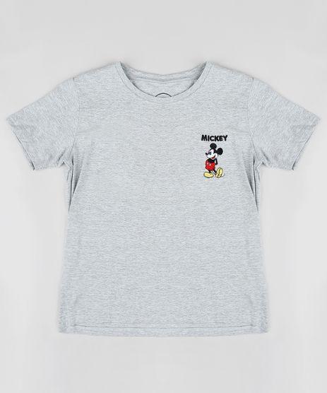 Blusa-Infantil-Mickey-com-Bordado-Manga-Curta-Decote-Redondo-Cinza-Mescla-9245398-Cinza_Mescla_1