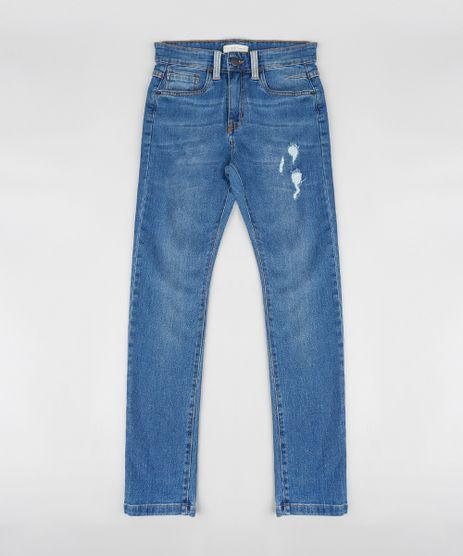 Calca-Jeans-Infantil-Skinny-com-Rasgos-Azul-Medio-9315931-Azul_Medio_1