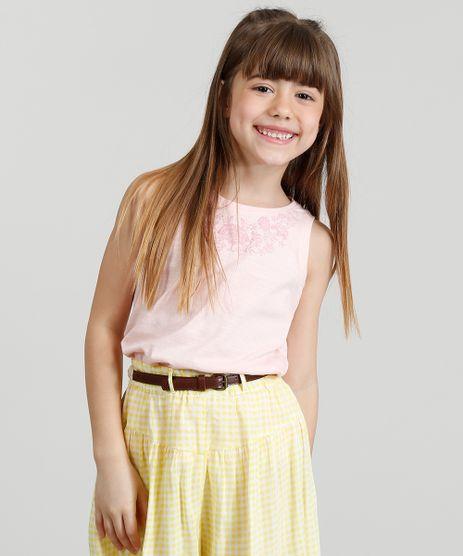 Regata-Infantil-com-Estampa-Floral-Decote-Redondo-Rose-9323099-Rose_1