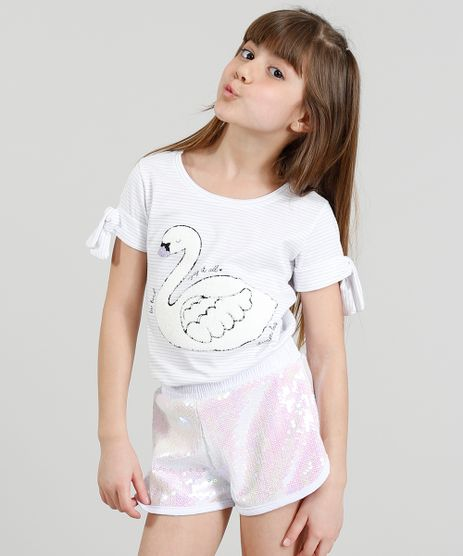 Blusa-Infantil-Listrada-com-Cisne-Manga-Curta-Decote-Redondo-Branca-9301019-Branco_1