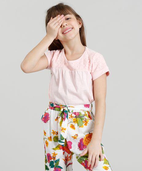 Blusa-Infantil-com-Renda-Manga-Curta-Decote-Redondo-Rose-9355925-Rose_1