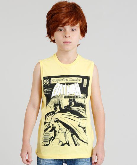 Regata-Infantil-Batman-Quadrinhos-Gola-Careca-Amarela-9279804-Amarelo_1