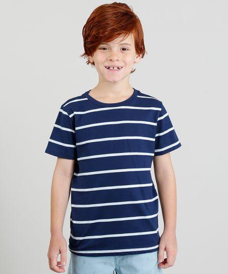 Camiseta-Infantil-Listrada-Manga-Curta-Gola-Careca-Azul-Marinho-9325992-Azul_Marinho_1