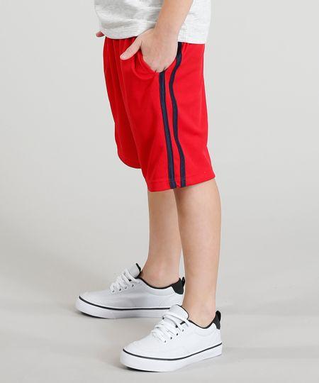 a830341fd4 Menor preço em Bermuda Infantil Esportiva Básica com Listras Laterais  Vermelha