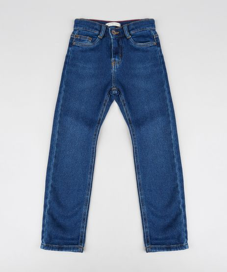 Calca-Jeans-Infantil-Slim-com-Bolsos-Azul-Medio-9377755-Azul_Medio_1