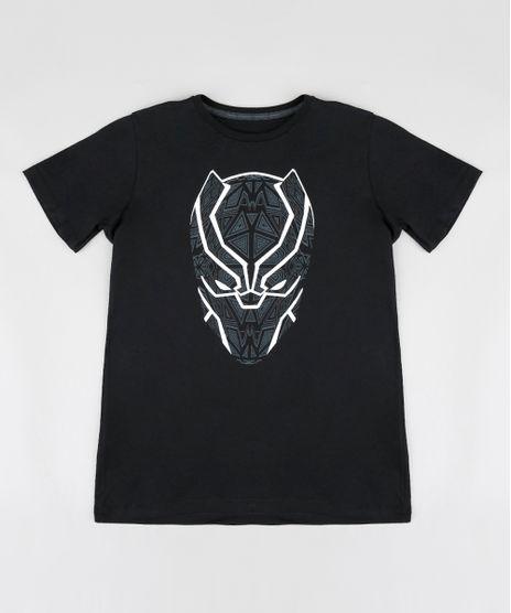 Camiseta-Infantil-Pantera-Negra-Manga-Curta-Gola-Careca-Preta-9391663-Preto_1