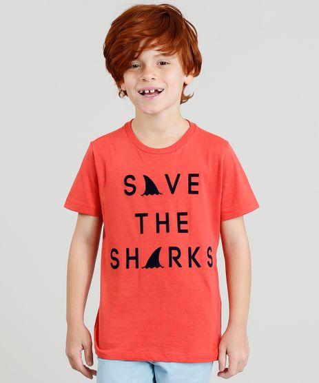 Camiseta-Infantil-com-Estampa-Flocada-Manga-Curta-Vermelha-9377981-Vermelho_1