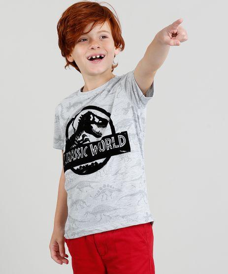 Camiseta-Infantil-Jurassic-World-Estampada-Manga-Curta-Gola-Careca-Cinza-Mescla-Claro-9327943-Cinza_Mescla_Claro_1