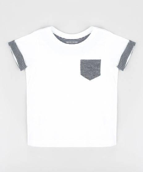 Camiseta-Infantil-com-Bolso-Manga-Curta-Gola-Careca-Branca-9303339-Branco_1