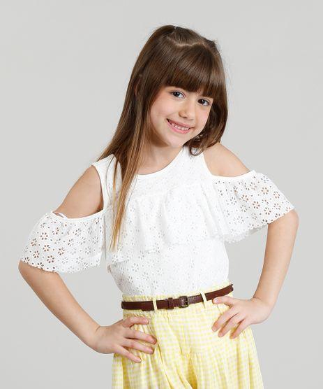 Blusa-Infantil-Open-Shoulder-em-Renda-com-Babado-Manga-Curta-Decote-Redondo-Off-White-9324069-Off_White_1