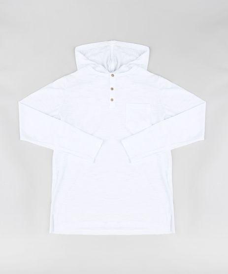 Camiseta-Infantil-com-Capuz-e-Bolso-Manga-Longa-Branca-9329309-Branco_1