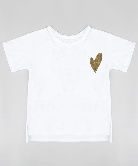 Blusa-Infantil--Love--com-Paete-Dupla-Face-Manga-Curta-Decote-Redondo-Branca-9311838-Branco_1