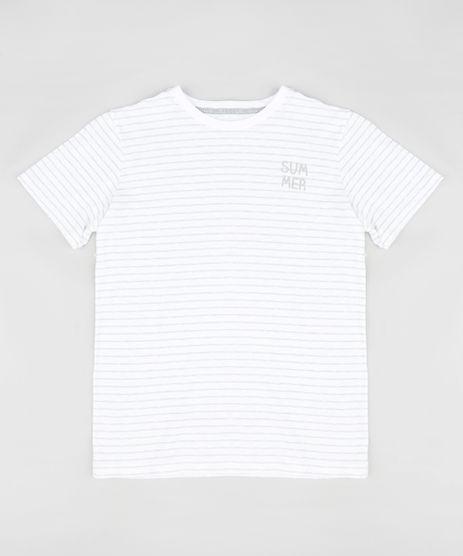 Camiseta-Infantil-Listrada--Summer--Manga-Curta-Gola-Careca-Branca-9329310-Branco_1