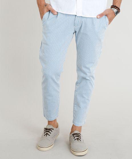 Calca-de-Sarja-Masculina-Chino-Slim-Cropped-Listrada-Azul-Claro-9305832-Azul_Claro_1