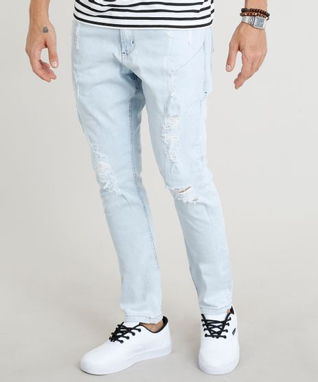Calca-Jeans-Masculina-Carrot-Destroyed-Azul-Claro-9306437-Azul_Claro_1