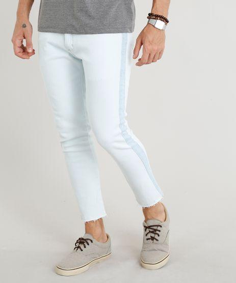 Calca-Jeans-Masculina-Slim-Cropped-com-Recorte-Lateral-Azul-Claro-9305829-Azul_Claro_1