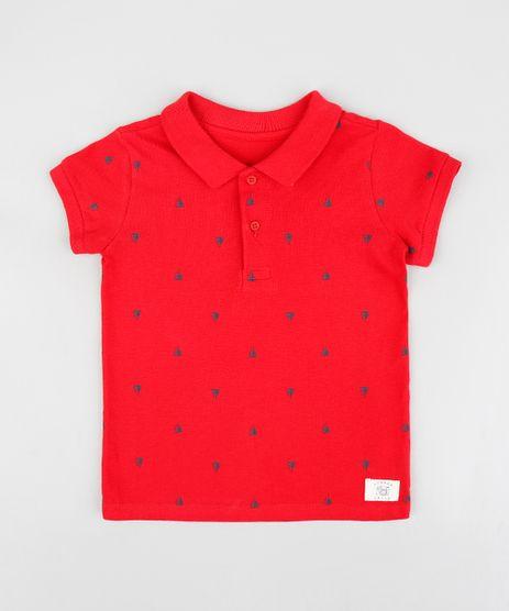 Polo-Infantil-em-Piquet-Estampada-de-Barquinhos-Manga-Curta-Vermelho-9232365-Vermelho_1