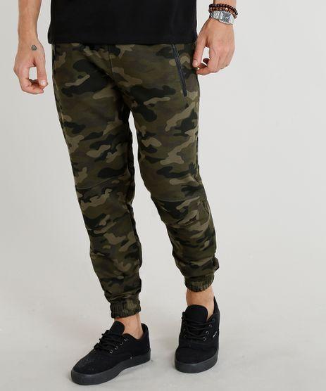 Calca-Masculina-Jogger-em-Moletom-Estampada-Camuflada-Verde-Militar-9377408-Verde_Militar_1
