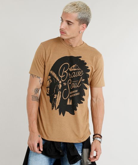 Camiseta-Masculina-Indio-Manga-Curta-Gola-Careca-Caramelo-9380493-Caramelo_1