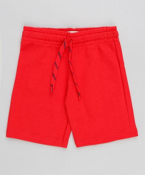 Bermuda-Infantil-Basica-em-Moletom-com-Cordao-Vermelha-9421895-Vermelho_1