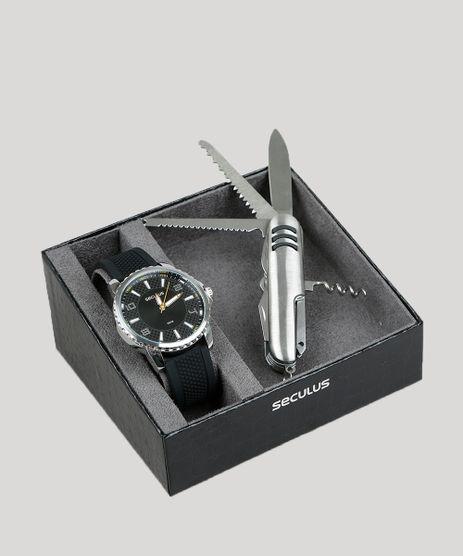 Kit-de-Relogio-Analogico-Seculus-Masculino---Canivete---77038G0SVNI2K-Preto-9399553-Preto_1