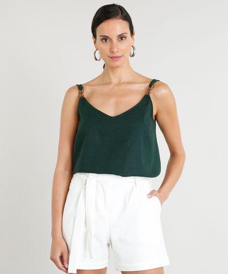 Regata-Ampla-Feminina-Lenny-Niemeyer-em-Linho-Decote-V-Verde-Escuro-9257220-Verde_Escuro_1