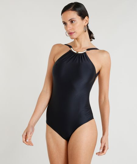 d4a81fc19c6f Menor preço em Maiô Body Feminino Lenny Niemeyer Sem Bojo com Proteção  UV50+ Preto
