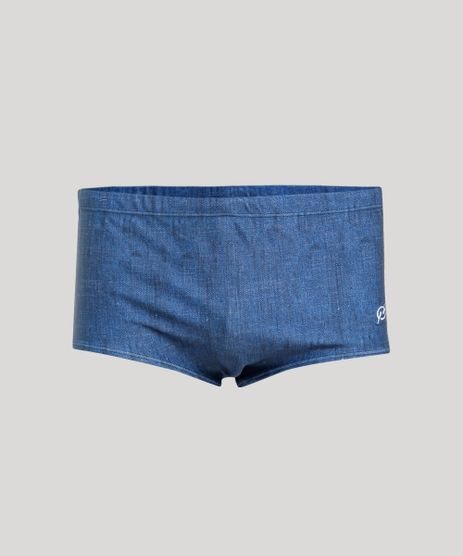 Sunga-Masculina-Blueman-Estampada-Jeans-com-Protecao-UV50--Azul-Escuro-9323768-Azul_Escuro_1