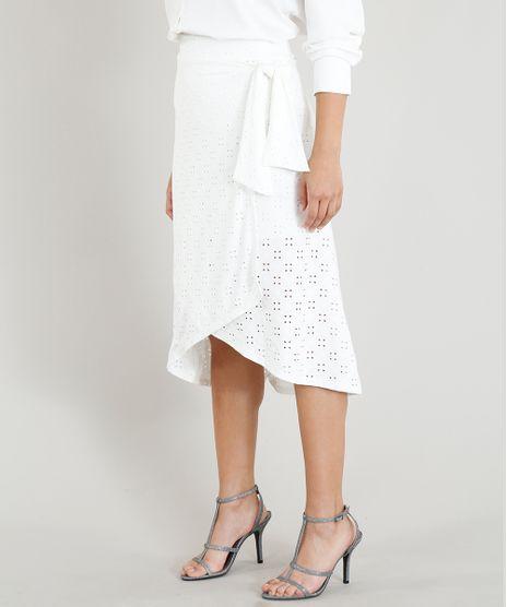 Camisa Feminina Mindset Básica Branca Manga Longa Off White - cea f1140b6baaccc