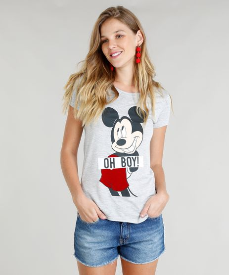 Blusa-Feminina-Mickey-Manga-Curta-Decote-Redondo-Cinza-Mescla-9370362-Cinza_Mescla_1