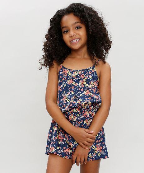 Macaquinho-Infantil-Estampado-Floral-com-Alcas-Finas-Azul-Marinho-9126114-Azul_Marinho_1