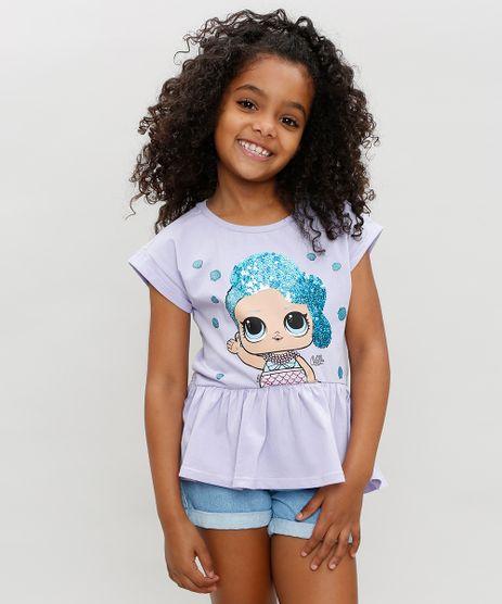 Blusa-Infantil-LOL-Surprise-com-Paetes-e-Babado-Manga-Curta-Decote-Redondo-Lilas-9297073-Lilas_1