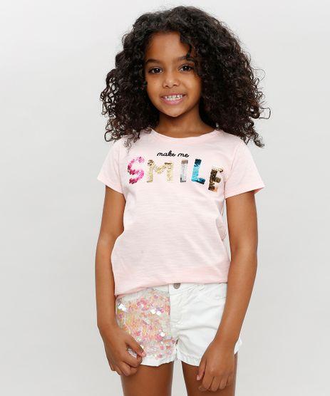 Blusa-Infantil--Smile--com-Paete-Dupla-Face-e-Bordado-Manga-Curta-Decote-Redondo-Rose-9331099-Rose_1