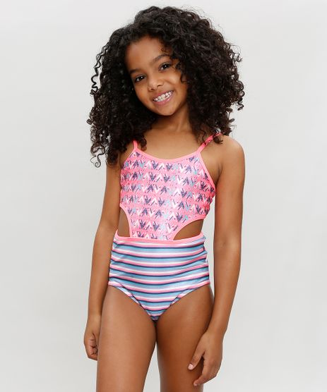 Maio-Infantil-Estampado-Etnico-e-Recortes-com-Protecao-UV50--Rosa-Neon-9302484-Rosa_Neon_1