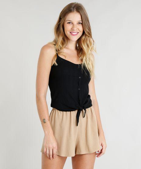 Regata-Feminina-Canelada-com-No-e-Botoes-Alcas-Finas-Decote-V-Preta-9337371-Preto_1